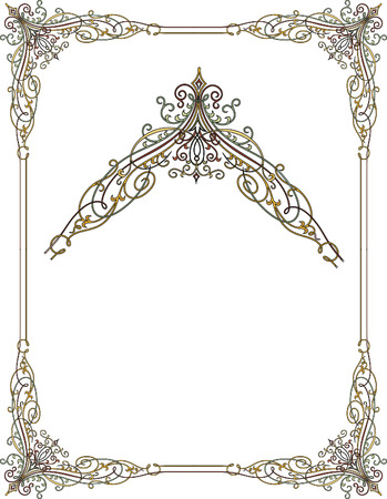 garnished: Garnished frame with corners