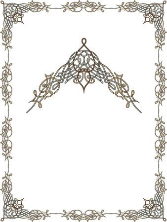 Garnished frame Vector