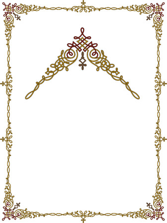 garnished: Garnished frame with corners