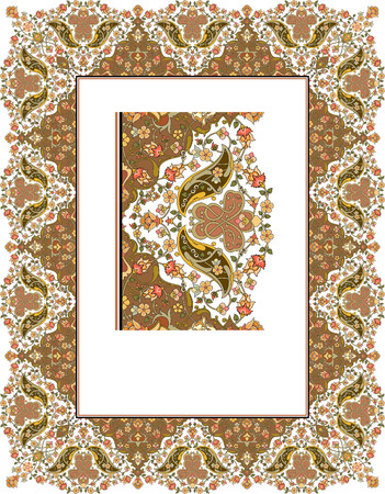 Detailed ornate thick frame Vector