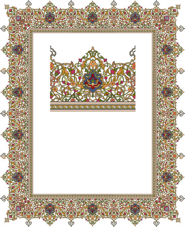Detailed ornate thick frame Stock Vector - 23391889