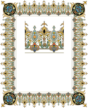 Detailed ornate thick frame Stock Vector - 23391896