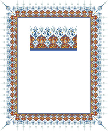 Detailed ornate thick frame Stock Vector - 23391922