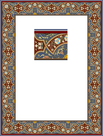 Tiled ornate border frame Vector