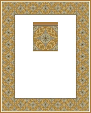 Tiled ornate border frame Vector
