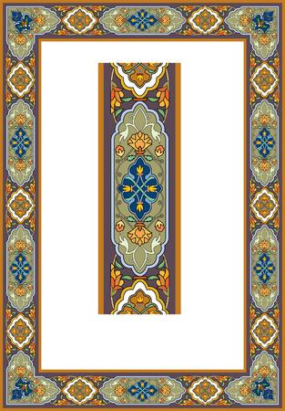 Detailed ornate photo frame Vector