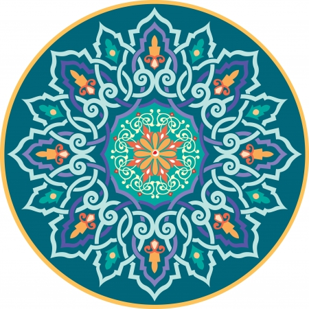 Arabesque ornate with flowers decoration  Vector
