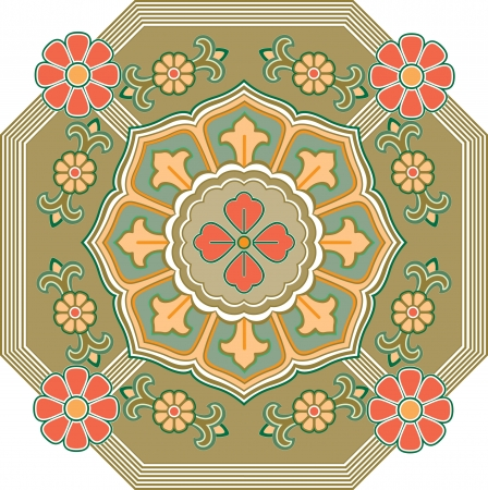 Flowers decoration pattern, Colored Vector