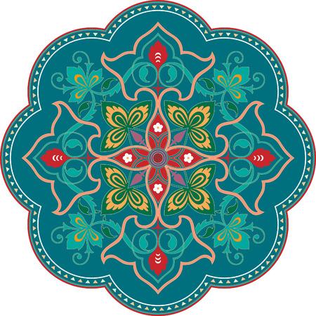 Garnished pattern, vector design, Colored Çizim