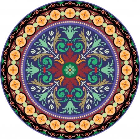 tiles texture: Garnished pattern, vector design, Colored Illustration