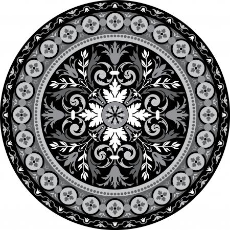 em tons de cinza: Padr Ilustração