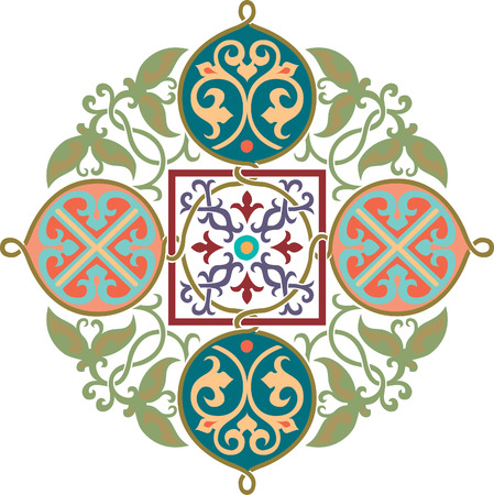Garnished pattern, vector design, Colored Vector