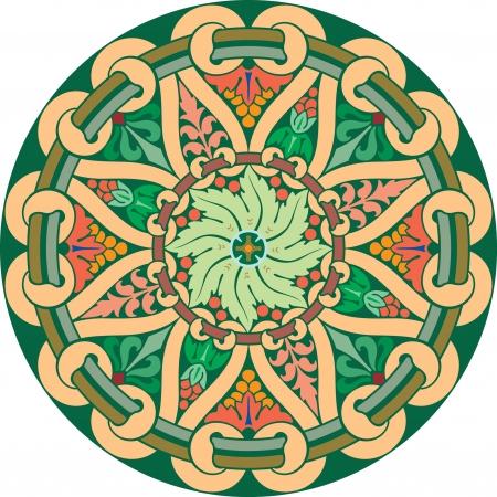 garnished: Garnished pattern, vector design, Colored Illustration