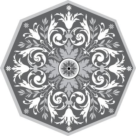 garnished: Garnished pattern, vector design, Grayscale