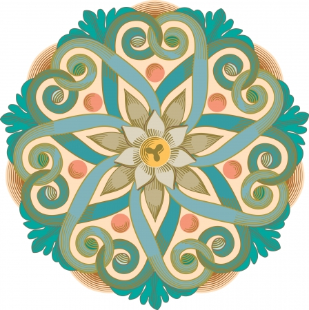 garnished: Garnished pattern, vector design, Colored Illustration