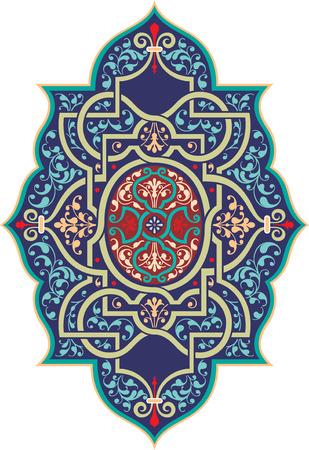oriental vector: Oriental ornament vector design, Colored