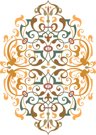 Oriental ornament vector design, Colored