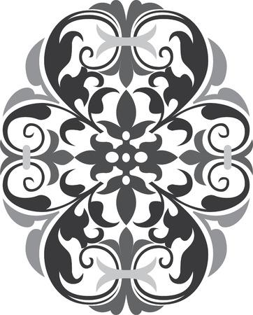 em tons de cinza: Design oriental bonita em vetores edit