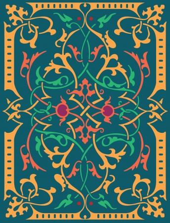 Garnished pattern, vector design, Colored Vector