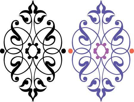 garnished: Garnished pattern, vector design, Colored and Monochrome Illustration