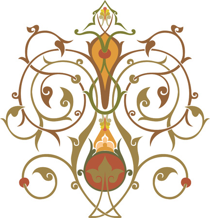 Flowers decoration, vector design, Watercolor