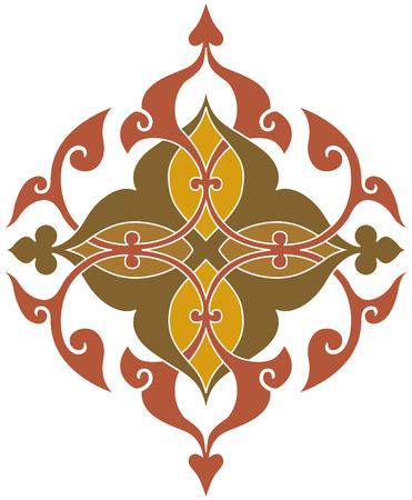 Simple ornamental vector design Illustration
