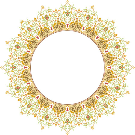 Circle ornate vector frame Vector