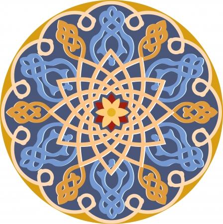 Arabesque decoration pattern, Colored Vector