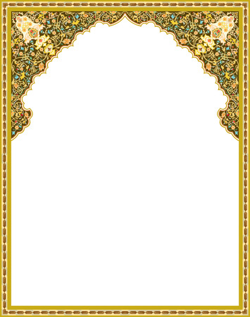 Detailed oriental vector frame Illustration