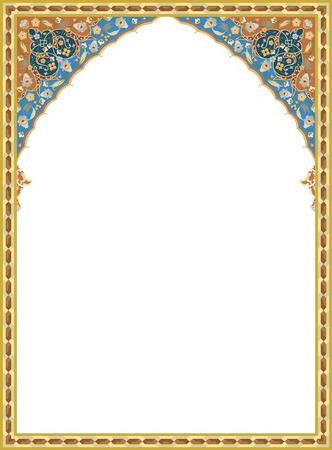 Detaillierte orientalischen Vektor-Rahmen Standard-Bild - 24003732