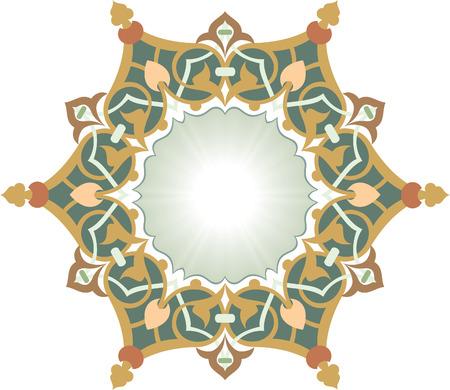 Elegant decorative pattern in editable vector file Vector