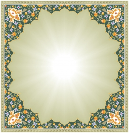 oriental: Ornamental seamless pattern in oriental style