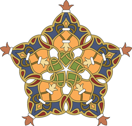 Arabesque decoration pattern, Colored Vector