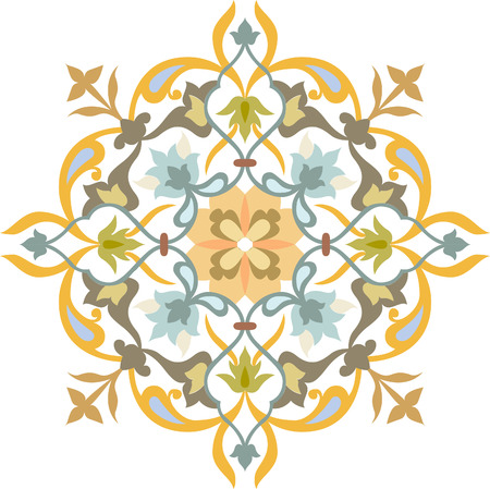 Elegant decorative pattern in editable vector file, Watercolor Vector