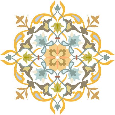 Elegant decorative pattern in editable vector file, Watercolor Stock Vector - 24003834
