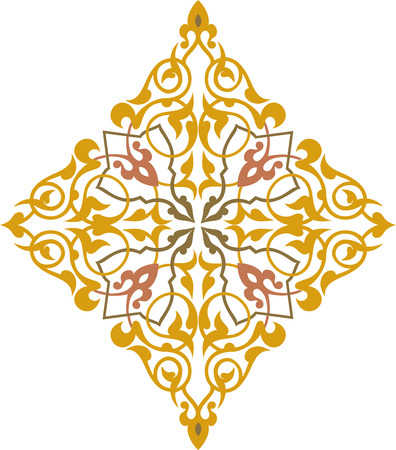 Elegant decorative pattern in editable vector file Vector