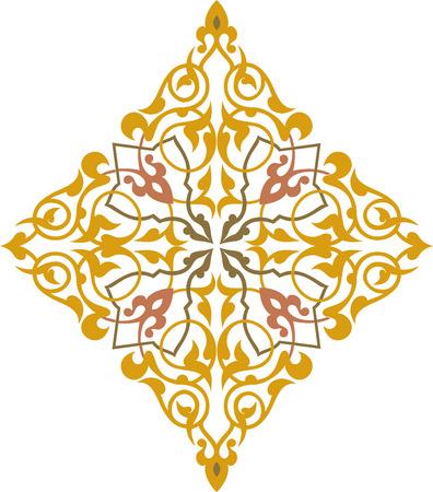 Elegant decorative pattern in editable vector file Stock Vector - 24003839