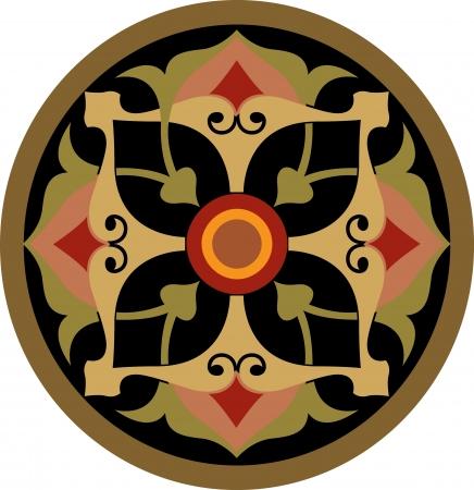 garnished: Garnished circle vector design