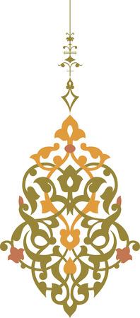 Elegant decoratief patroon in bewerkbare vector-bestand, Aquarel