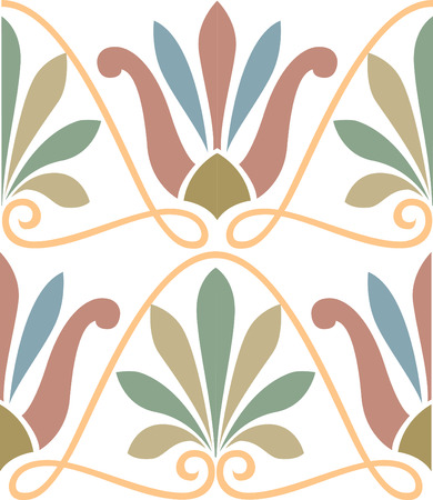 Seamless pattern stock vector, used for tiling background