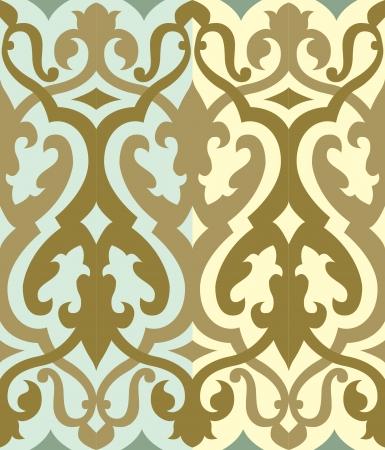 Naadloze patroon stock vector, gebruikt voor de tegels achtergrond
