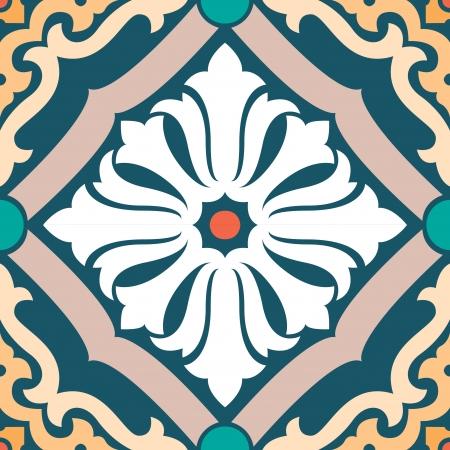 Elegant patroon stock vector, gebruikt voor de tegels achtergrond