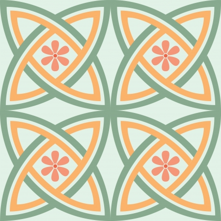 Seamless pattern, flowers stock vector, used for tiling background