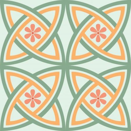 Naadloze patroon, bloemen stock vector, gebruikt voor de tegels achtergrond Stock Illustratie