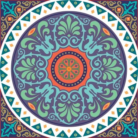 pattern: Naadloze patroon stock vector, gebruikt voor de tegels achtergrond