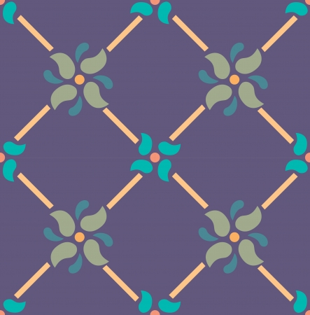 Seamless pattern, flowers and leaves stock vector, used for tiling background Vector