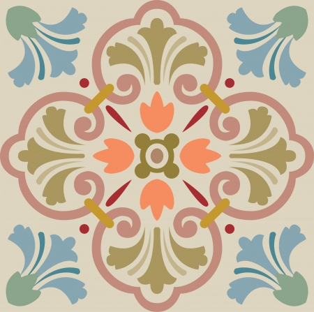tiling: Seamless pattern stock vector, used for tiling background