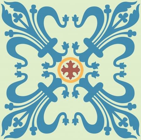 Naadloze patroon stock vector, gebruikt voor de tegels achtergrond Vector Illustratie