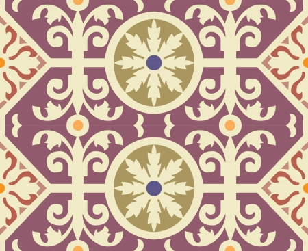 Seamless pattern, flowers and leaves stock vector, used for tiling background