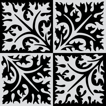 Seamless pattern stock vector, use for tiled background, Grayscale Banco de Imagens - 24147403